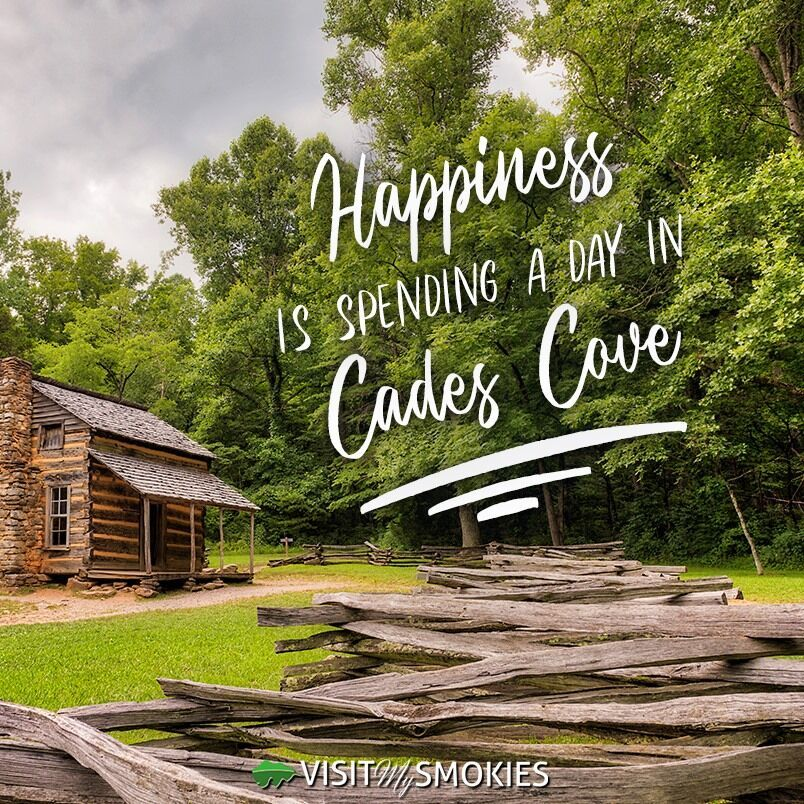 Happiness Is Spending A Day In Cades Cove Cades Cove Tennessee Vacation Cove