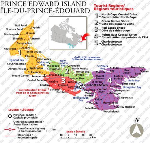 pei tourist map Google Search Coast to Coast Canada Pinterest