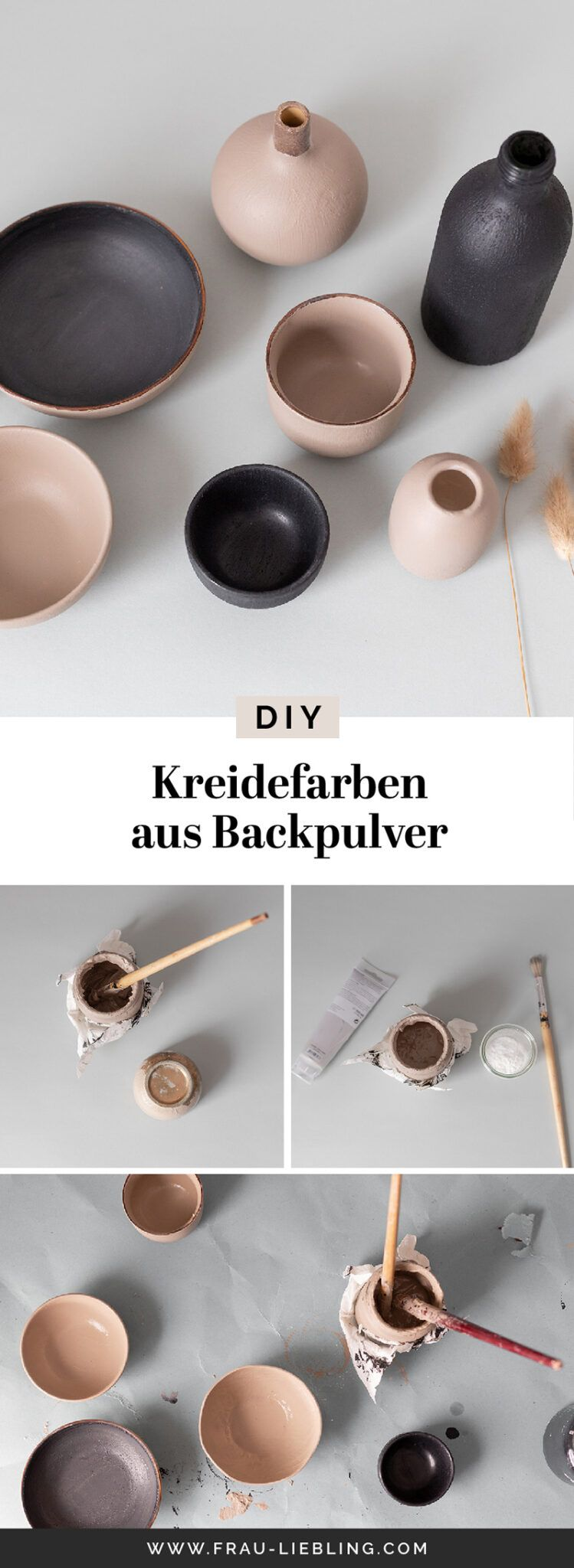 DIY Kreidefarbe aus Backpulver - Deko neu bemalen