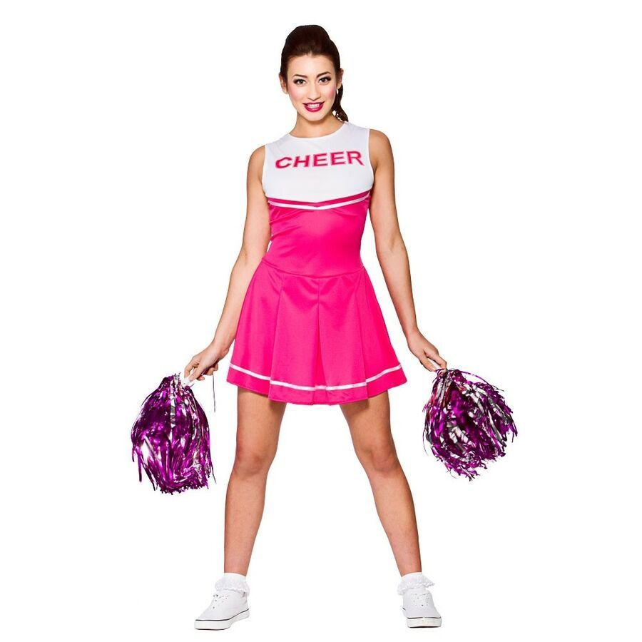 High School Cheerleader Ladies Fancy Dress Sports Womens Uniform Adults Costume