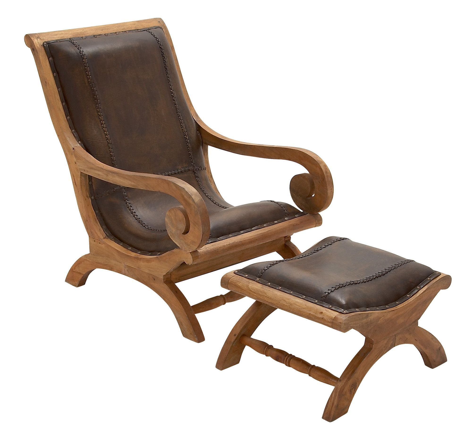 Kichatna Spire Armchair and Ottoman Leather chair with