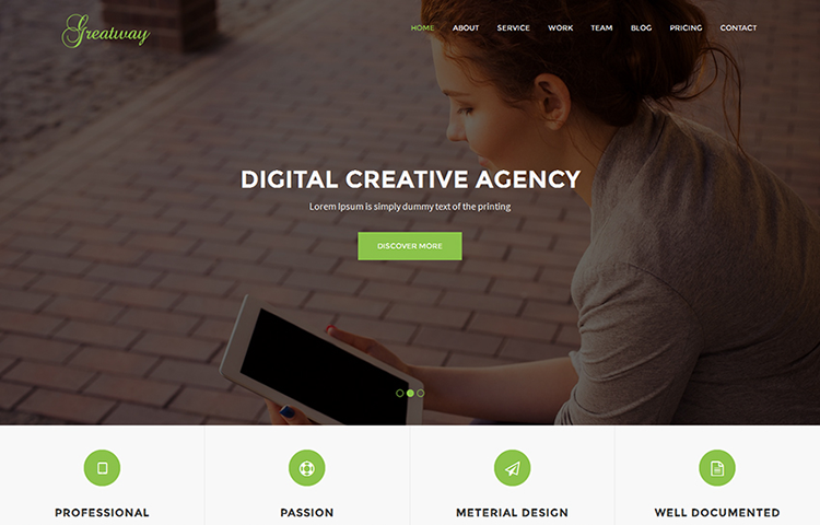 Greatway Material Design Agency Template Greatway is