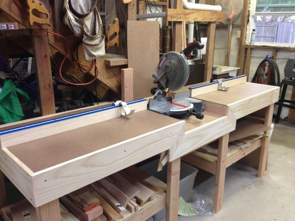 This Measuring System Is A Great Addition To My Miter Saw Table Easy To Install And Works Gr Woodworking Bench Plans Woodworking Shop Layout Woodworking Bench