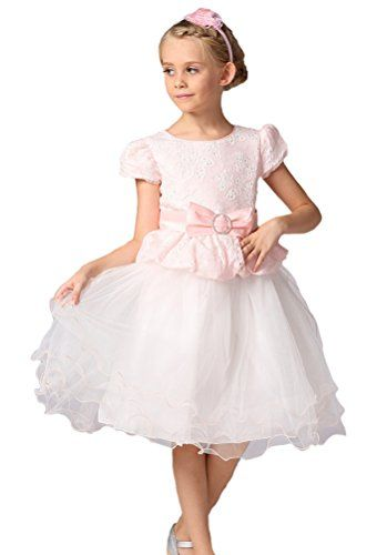 2df813202 Horcute Girls Lovely 2in1 Flower Girl Pageant Holiday Dress Pink XL ...