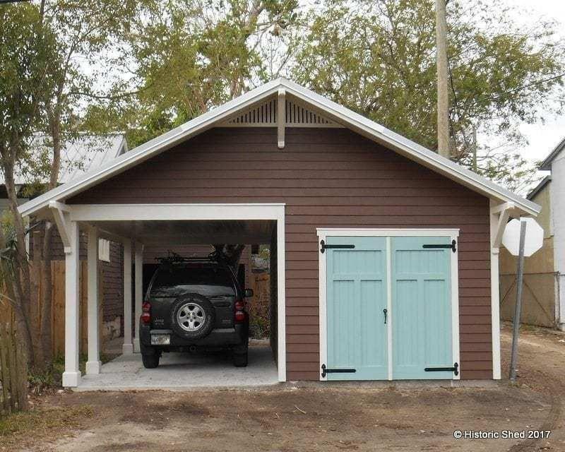 Carport Shed Historic Shed Florida Outdoorshedplans Carport Sheds Building A Shed Shed Construction