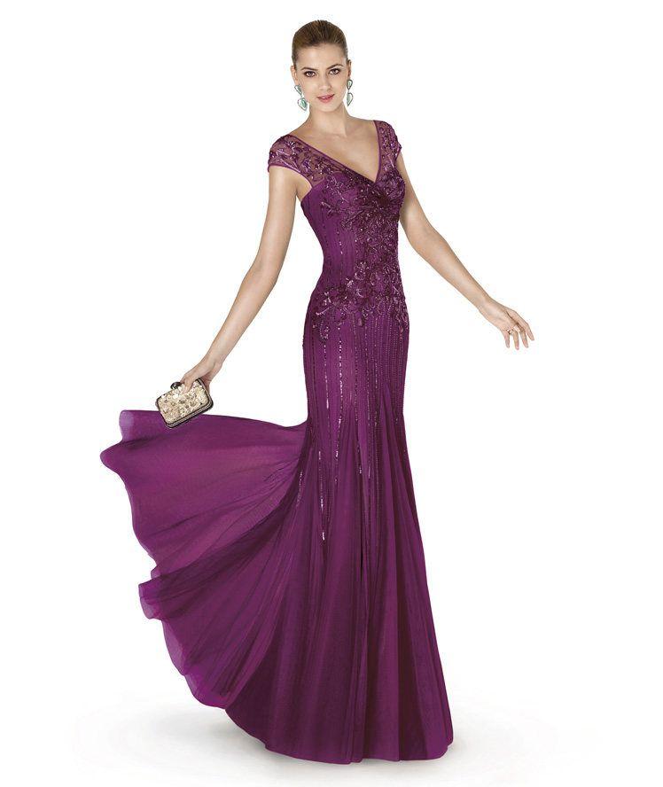 imagenes de vestidos largos de noche elegantes | ropa | Pinterest ...