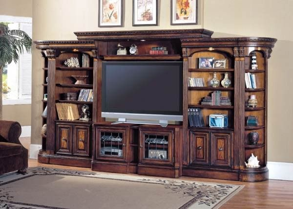 parker house huntington large exp entertainment wall on wall units id=55018