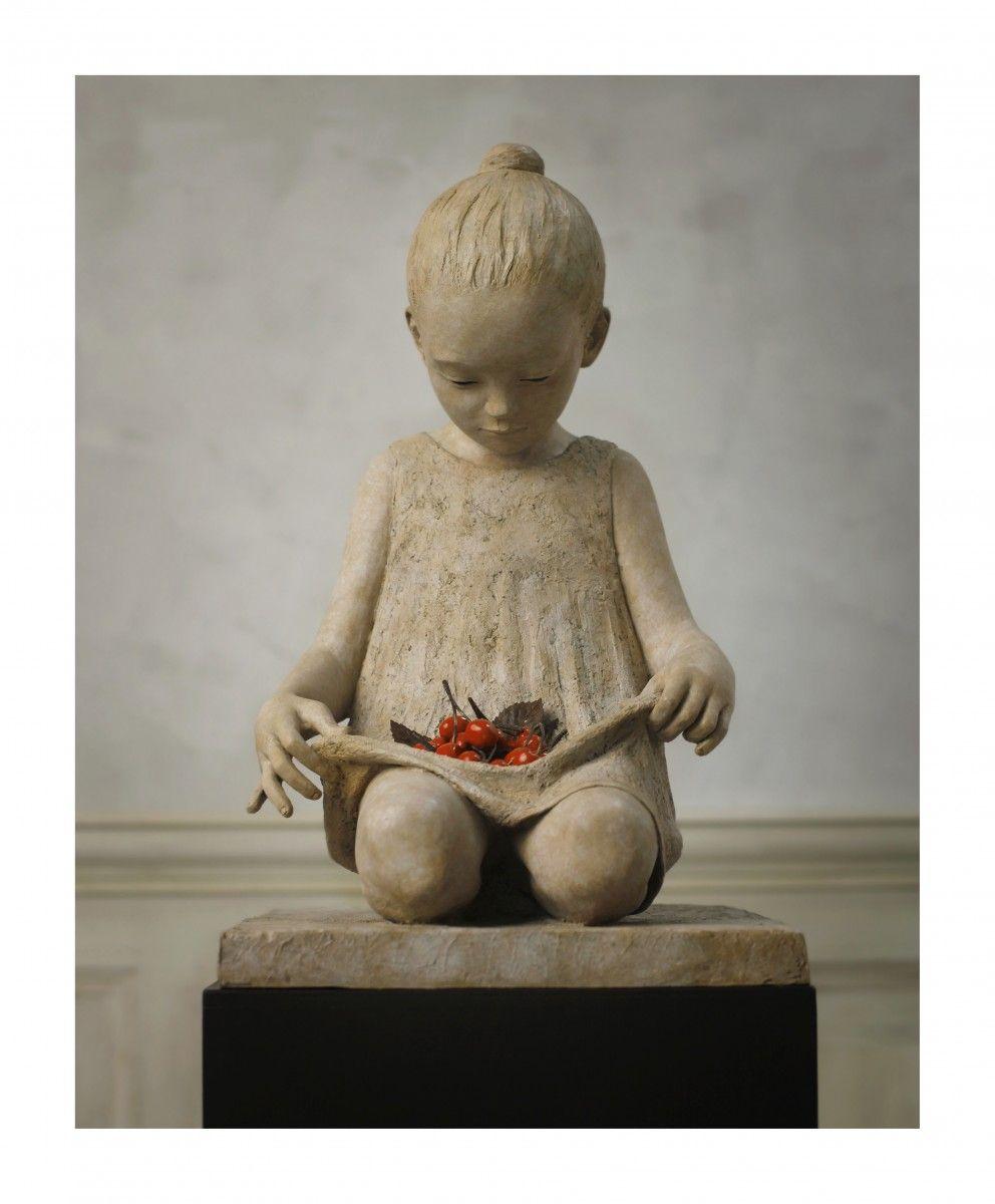 BERIT HILDRE-SCULPTEUR PETITE FILLE-Galerie SAKAH