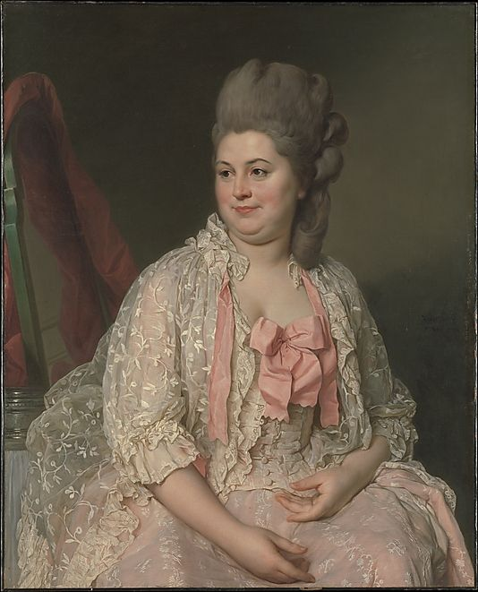"""""""Madame de Saint-Maurice, 1776,  Joseph Siffred Duplessis  (French, 1725–1802). exhibited by Duplessis at the Salon of 1777, where it was admired for its truthfulness and the delicate treatment of the draperies."""""""