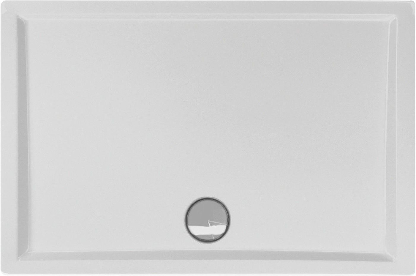 Duschwanne flach 110 x 80 x 4 cm (mit Bildern