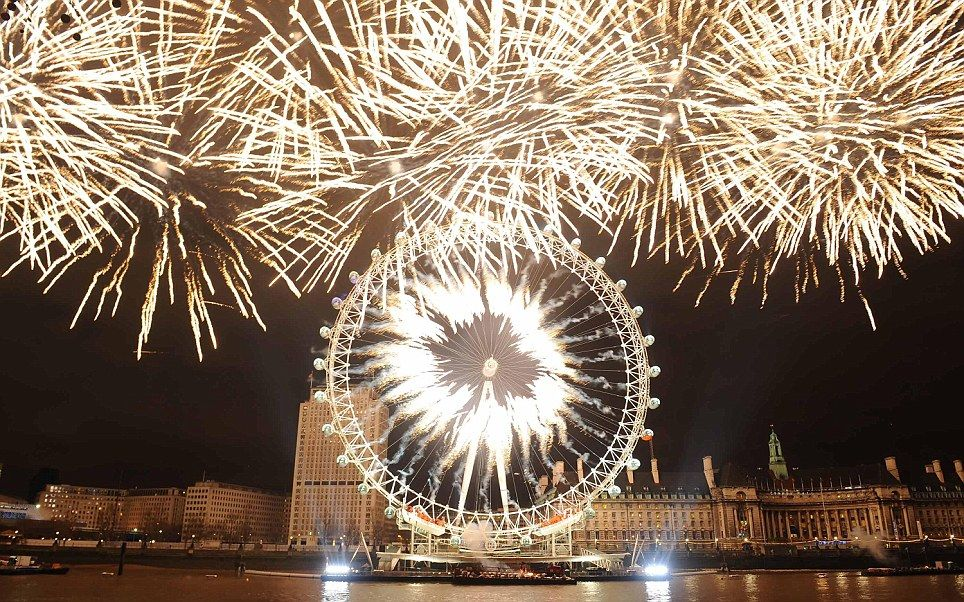 Happy New Year London Fireworks HD Images Fuegos