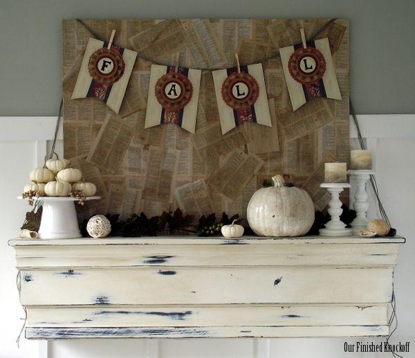 Lovely fall mantel.