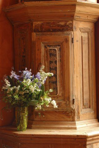 antique 1700s swedish country kurbits handpainted folk art cabinet