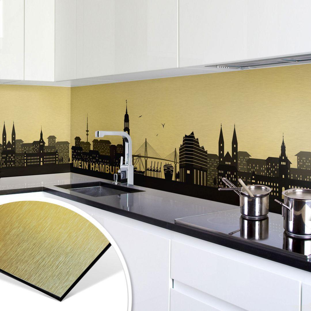 Kuchenruckwand Alu Dibond Goldeffekt Mein Hamburg Alte Und Langst Unmoderne Fliesen Schmucken Derzeit Noch Kuchenruckwand Kleine Wohnung Dekorieren Kuche