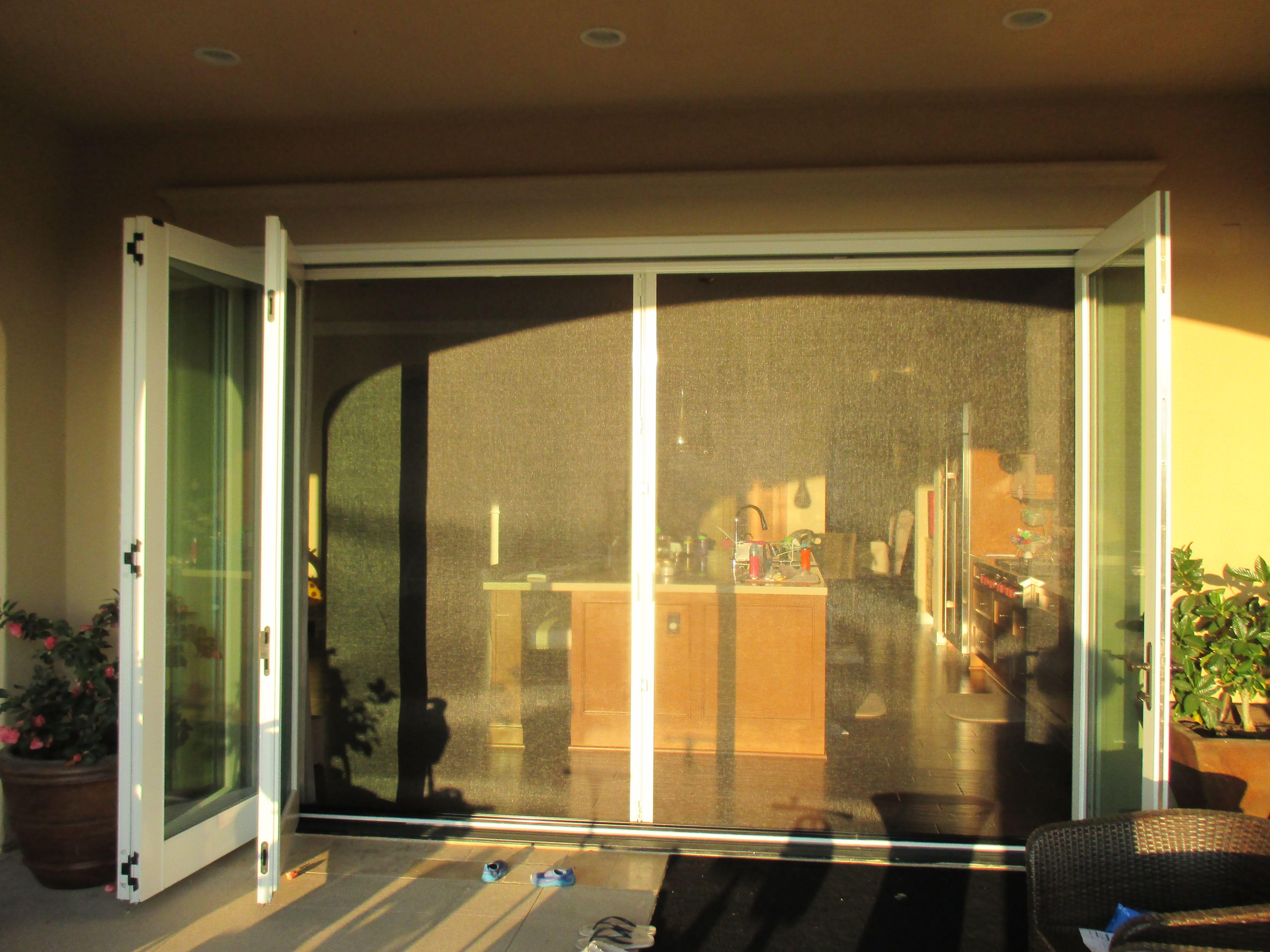 Bi Folding Glass Door Western Sliding Doors Retractable Screen