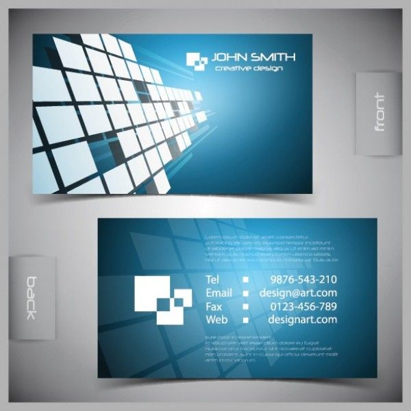 Blue futuristic business card vector template httpwww xoo plate blue futuristic business card vector template geometric blue business card vector template front and back accmission Images