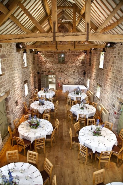 The East Barn Ready For Our Reception At The Ashes Wedding Venue