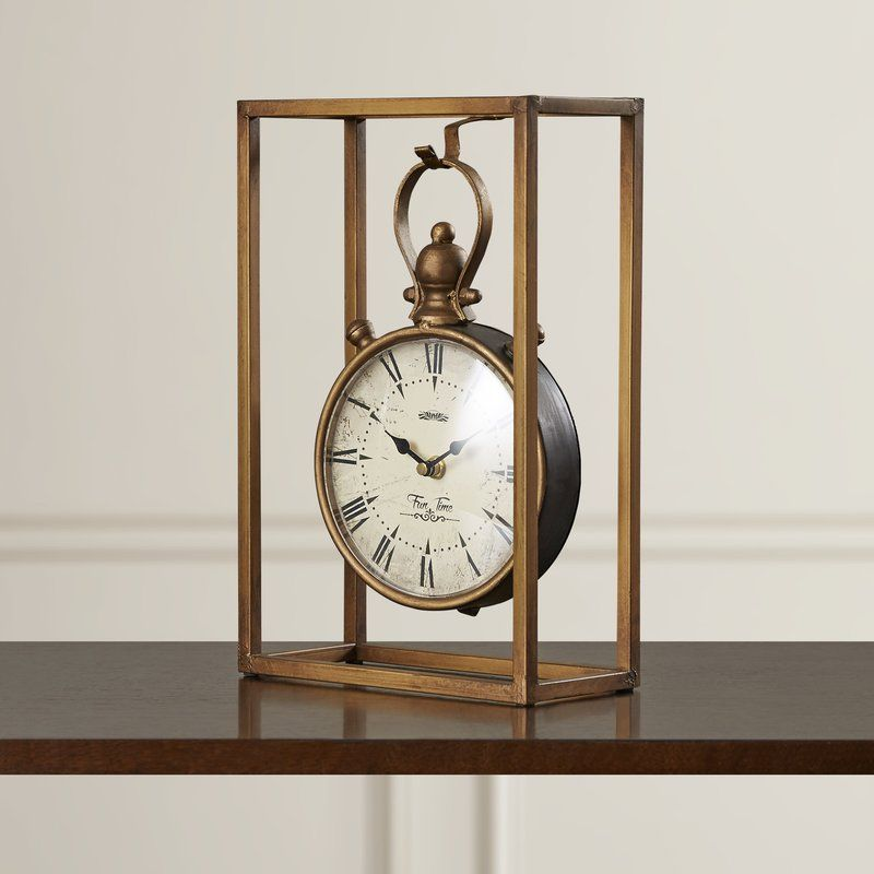 2019 Vintage Wall-mounted Table Clock Antique Home Decor Desk Quartz Alarm Clock
