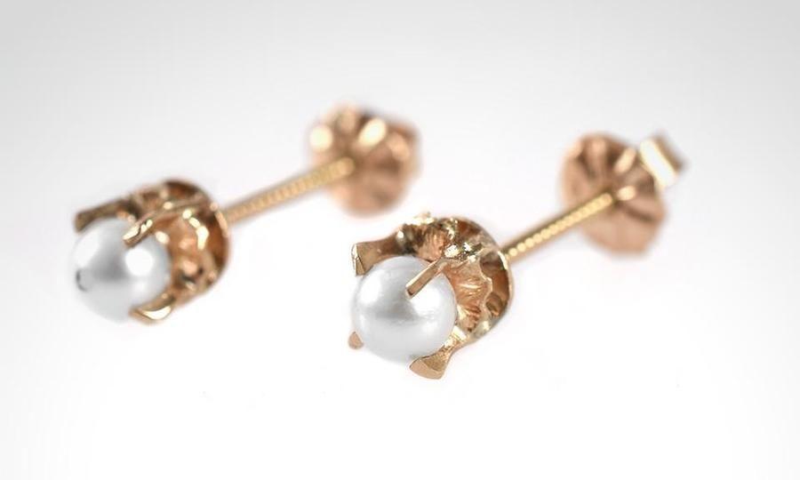 9ae63b1a24b0 Aros abridores de oro de 18K para bebé modelo perla cultivada 3mm. Retiro  en Tienda