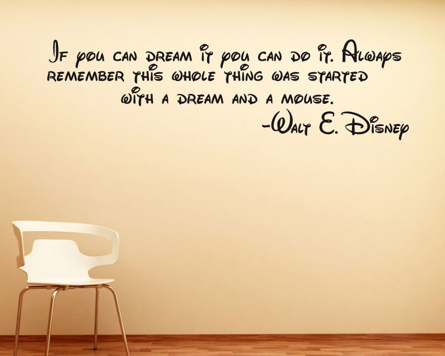 Disney Wall Sticker Quote Decal | Wall sticker, Walls and Wall decals
