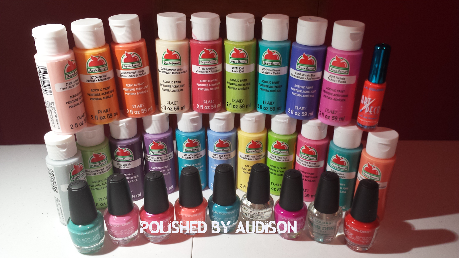 Polished By Audison: Walmart Haul [LA Colors & Acrylic Paint ...