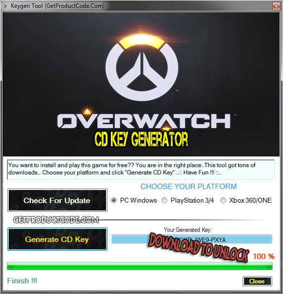 overwatch pc activation key