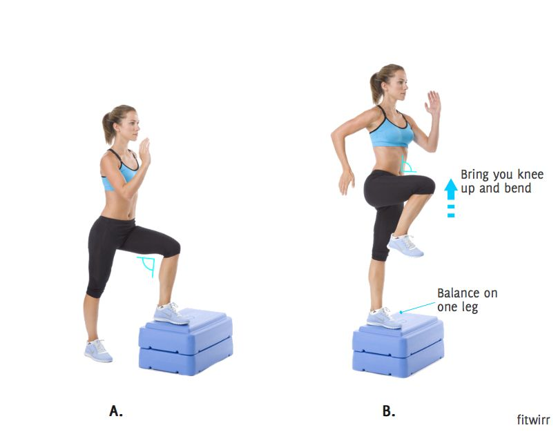How To Do Step Up To Balance Shape Your Body Exercise