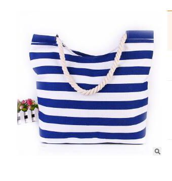 Daytona Classic Beach Tote Bag with Rope Handles