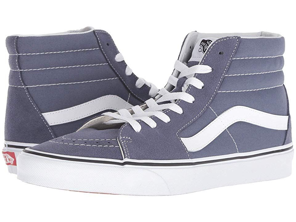 95b560c9b5 Vans SK8-Hitm (Grisaille True White) Skate Shoes. Keep it old school every  step of the way with the classic Vans SK8-Hi shoe! High-top silhouette.