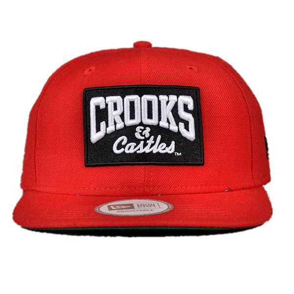 New Era Crooks And Castles Snapback Hats Red 0097! Only  8.90USD ... 44e16c4908c8