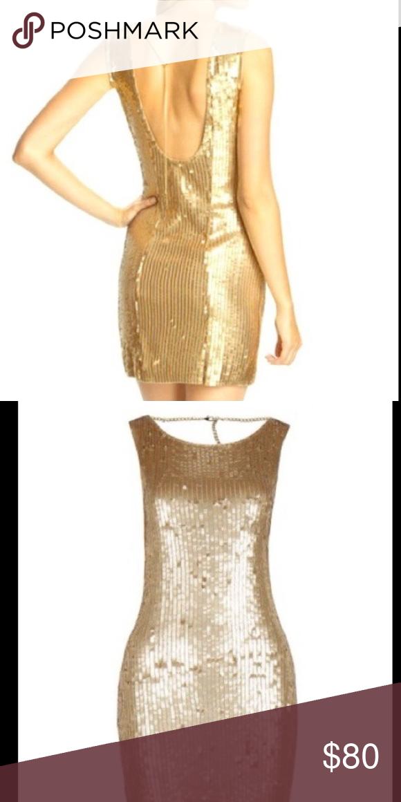 Michael Kors Gold Sequins Dress Stun on a night out. Vegas, NYE, black tie, just for fun! Michael Kors Dresses Mini