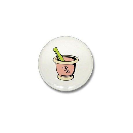 Mortar Pestle Mini Button on CafePress.com