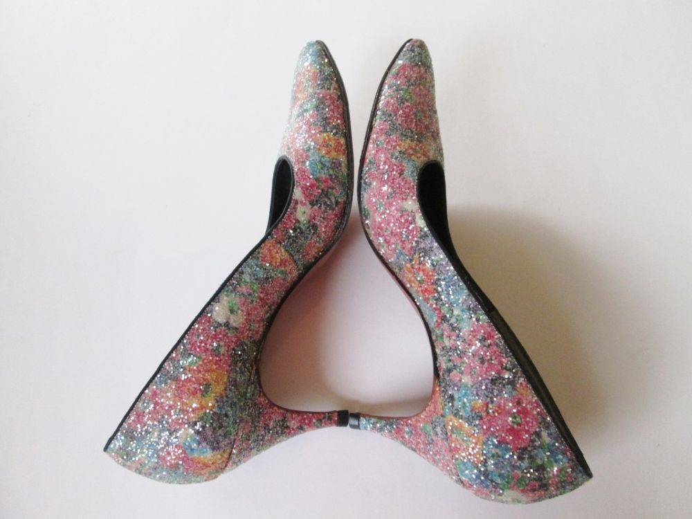 Glitter Shoes Heels Vintage 1960s DeLiso Debs Party Prom Pumps - Shop for Antiques, Vintage & Collectibles - The Vintage Village