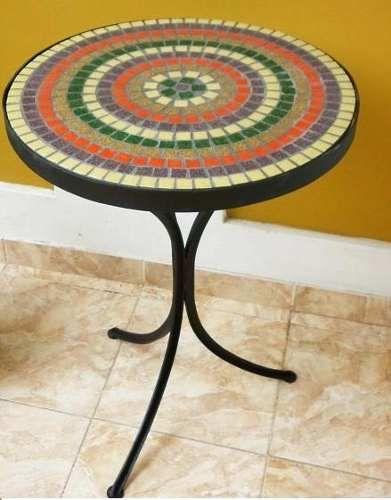 mesa de hierro redonda para jardin  Buscar con Google