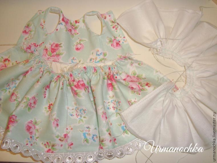 Подробный мастер-класс  шьем очаровательное платье для куклы - Ярмарка  Мастеров - ручная работа fadce7d2065