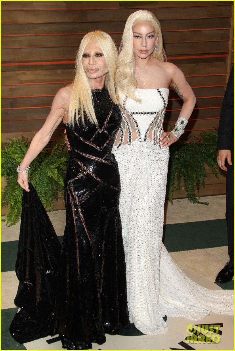 Donatella Versace Had The Hottest Arm Candy At Oscars Parties