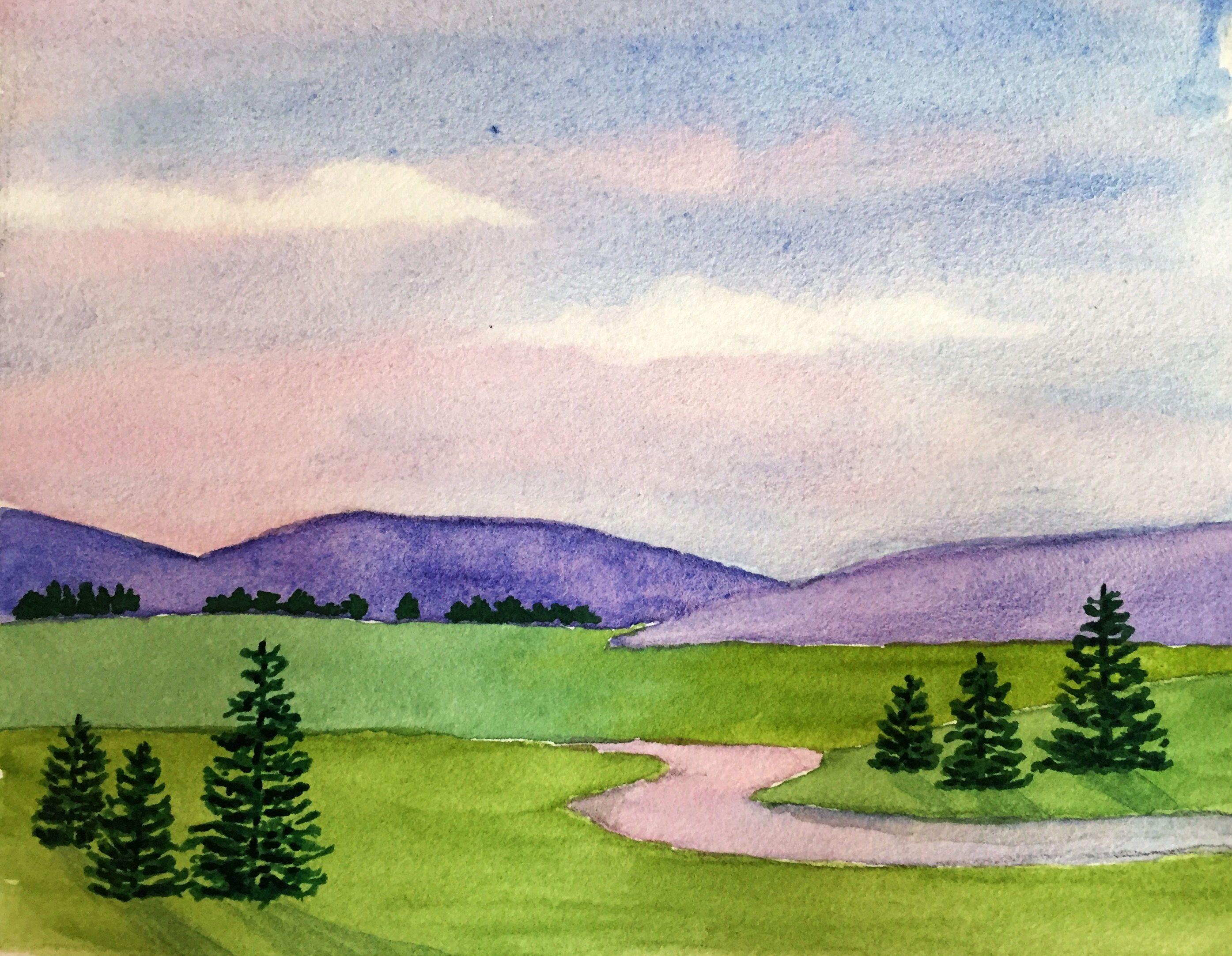 Easy landscape in watercolor franl