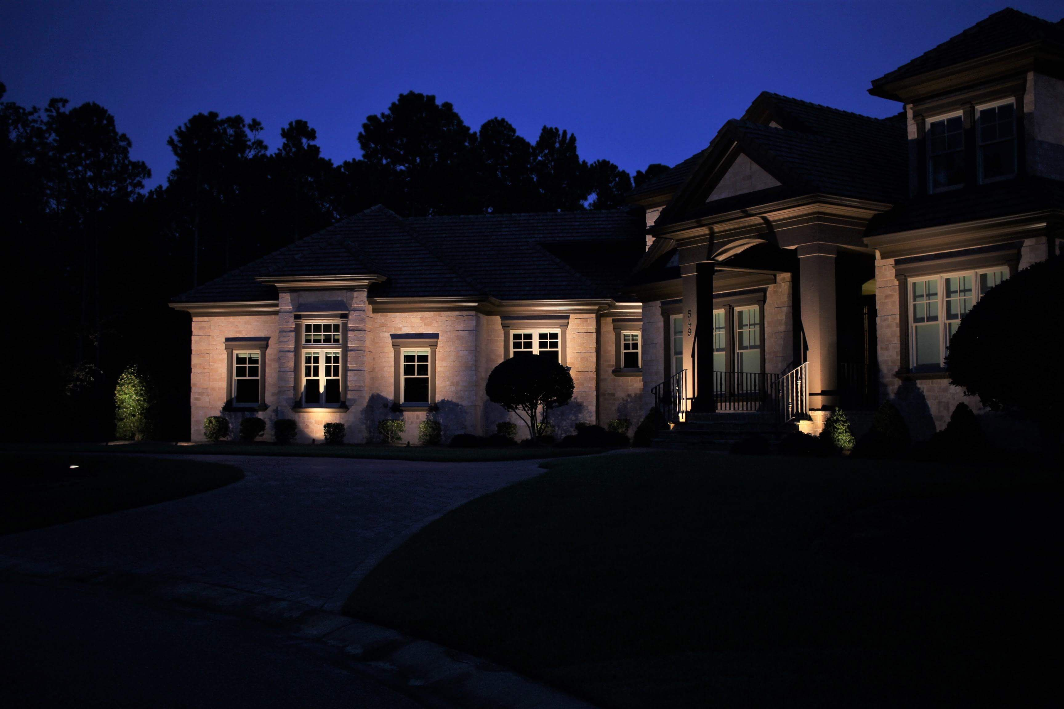 Set The Mood Of Your Home In The Evening With Images Holiday Lights Outdoor Landscape Lighting Home Lighting