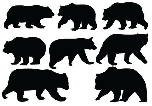Bear Silhouette Vector Quality Vector Silhouette Bear Silhouette Animal Silhouette Silhouette Vector
