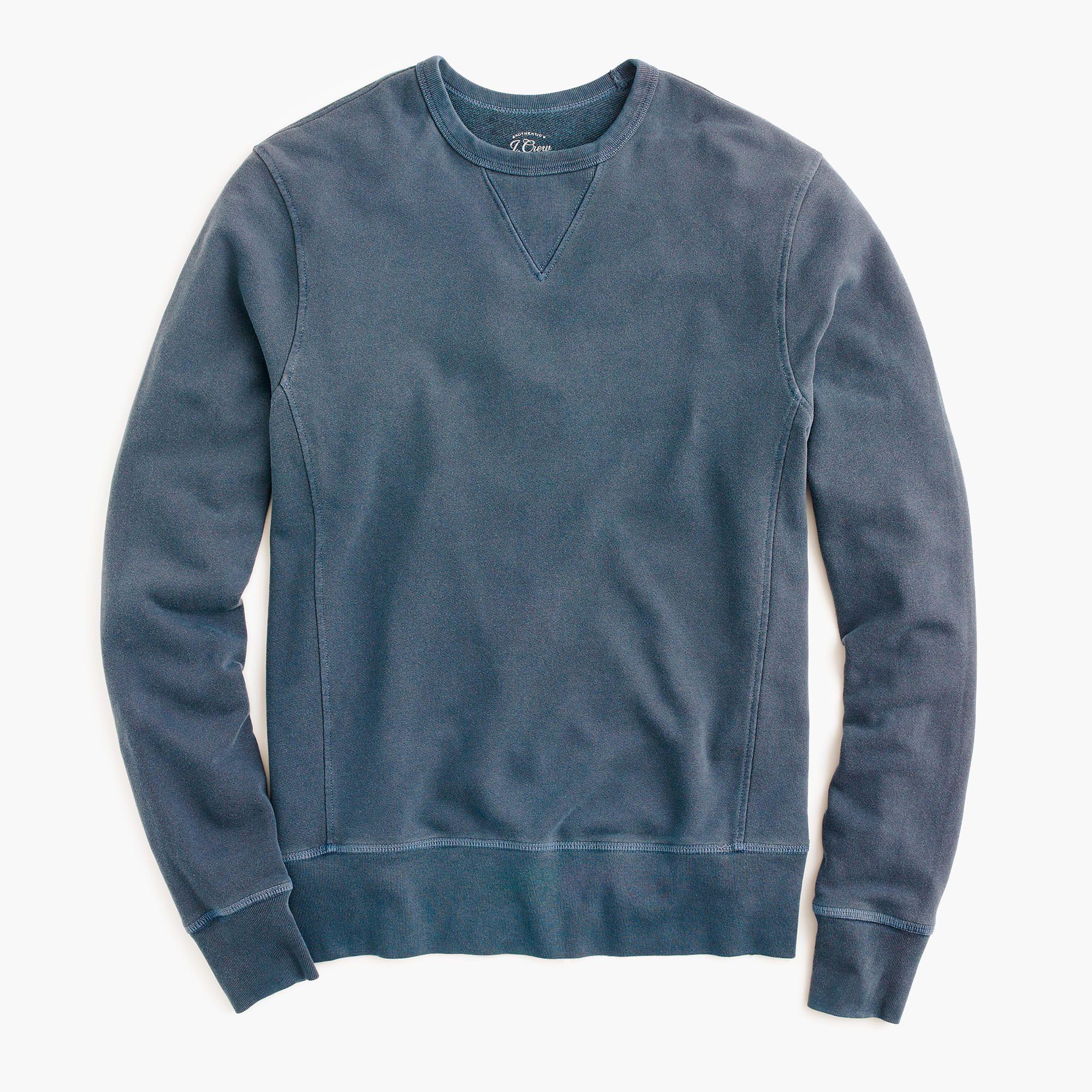 J Crew Garment Dyed Crewneck Sweatshirt Long Sleeve Tshirt Men J Crew Men Crew Neck Sweatshirt [ 2000 x 2000 Pixel ]