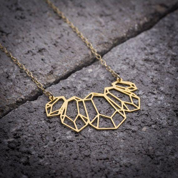 gold diamond necklace long necklace Gold gemstone #jewelry #necklace @EtsyMktgTool #daintynecklace #geometricnecklace #longnecklace