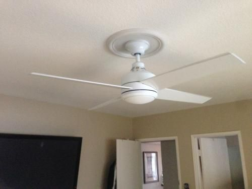 Hampton Bay, Mercer 52 in. White Ceiling Fan, 14924 at The Home Depot - Mobile