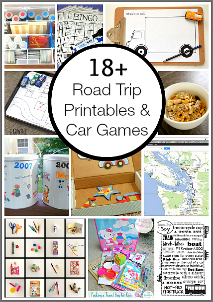 Road Trip Printables and Car Games for Kids Road trip