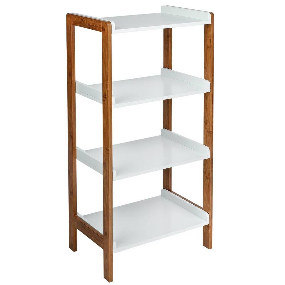 Buy Argos Home 4 Tier Bamboo Shelf Unit Two Tone