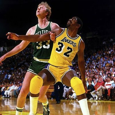 The Most Iconic Photos In Nba Playoffs History Magic Johnson Larry Bird Nba Players