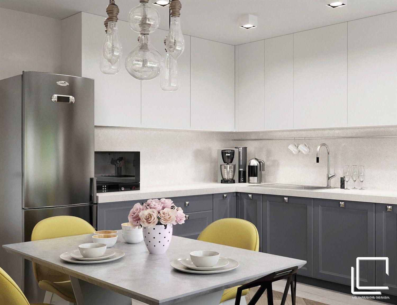 заказе кухня в сером цвете дизайн фото облицовочных материалов разы