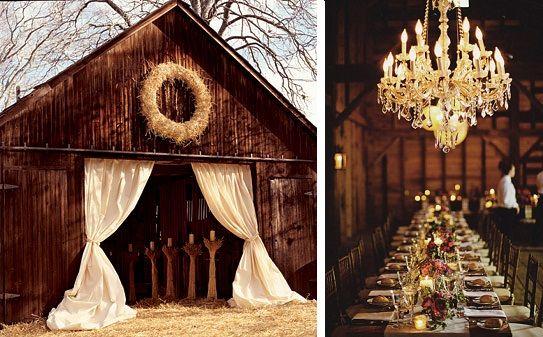 Lavender and Ash: Barn Wedding Decor