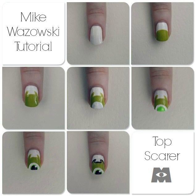 Monsters Inc Mike Wazowski tutorial. #MonstersInc ...