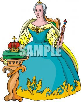 queen seated on her throne clip art card stuff pinterest rh pinterest com queen clip art images queen clipart png