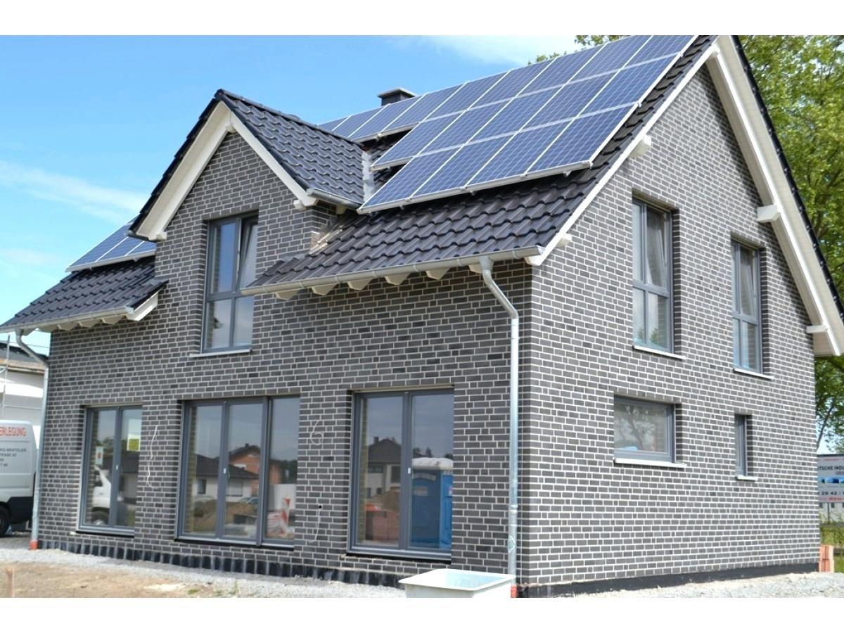 Fassade Grau Weis Mit Verblender Klinker K410 Nf Fassade